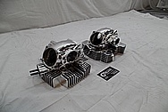 2008 Ducatti 1100 Monster Aluminum Cylinder Heads AFTER Chrome-Like Metal Polishing and Buffing Services / Restoration Services