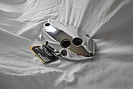 Aluminum Motorcycle Engine Cover AFTER Chrome-Like Metal Polishing and Buffing Services / Restoration Services