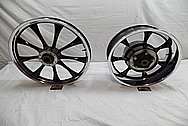 2010 Honda Furty Aluminum Motorcycle / Bike Wheels AFTER Chrome-Like Metal Polishing and Buffing Services / Restoration Services