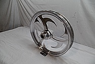 Aluminum Motorcycle / Bike Wheels AFTER Chrome-Like Metal Polishing and Buffing Services / Restoration Services