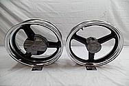 Aluminum Motorcycle Wheel Lips AFTER Chrome-Like Metal Polishing and Buffing Services / Restoration Services