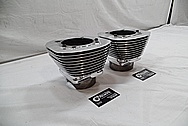 Harley Davidson Aluminum Cylinders AFTER Chrome-Like Metal Polishing / Restoration