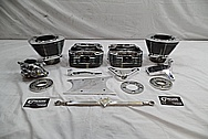 Harley Davidson Aluminum Parts Project AFTER Chrome-Like Metal Polishing / Restoration