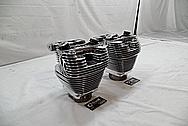 Harley Davidson Aluminum Cylinders and Cylinder Heads AFTER Chrome-Like Metal Polishing / Restoration