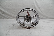 Aluminum 5 Blade Motorcycle Wheel AFTER Chrome-Like Metal Polishing