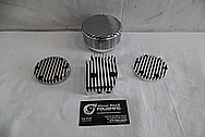 1978 Harley Davidson Lowrider Aluminum Engine Cover Pieces BEFORE Chrome-Like Metal Polishing
