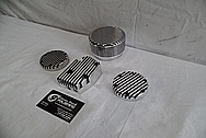 1978 Harley Davidson Lowrider Aluminum Engine Cover Pieces AFTER Chrome-Like Metal Polishing