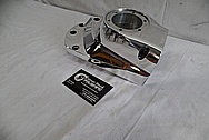 1978 Harley Davidson Lowrider Aluminum Engine Cover Piece AFTER Chrome-Like Metal Polishing