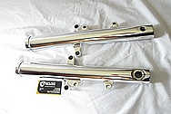 2005 1700cc Yamaha Roadstar Aluminum Forks AFTER Chrome-Like Metal Polishing and Buffing Services