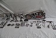 1978 Harley Davidson Lowrider Aluminum Engine Motorcycle Engine Pieces AFTER Chrome-Like Metal Polishing - Aluminum Polishing