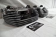 Harley Davidson Aluminum Diamond Cut Cylinder Heads AFTER Chrome-Like Metal Polishing and Buffing Services - Aluminum Polishing