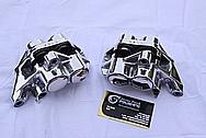 2005 1700cc Yamaha Roadstar Aluminum Brake Calipers AFTER Chrome-Like Metal Polishing and Buffing Services