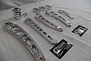 Aluminum Vance & Hines Motorcycle Parts AFTER Chrome-Like Metal Polishing and Buffing Services - Aluminum Polishing - Manufacture Polishing