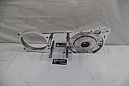 Harley Davidson Aluminum Motorcycle Primary Cover AFTER Chrome-Like Metal Polishing and Buffing Services - Aluminum Polishing