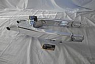 Aluminum Motorcycle Swingarm AFTER Chrome-Like Metal Polishing and Buffing Services - Aluminum Polishing