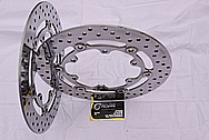 2005 1700cc Yamaha Roadstar Aluminum Front Brake Rotor Disc AFTER Chrome-Like Metal Polishing and Buffing Services
