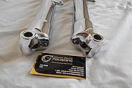 Vintage Aluminum Motorcycle Front Forks AFTER Chrome-Like Metal Polishing - Aluminum Polishing Service