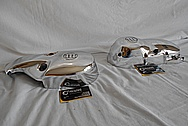 Vintage Aluminum Motorcycle Engine Cover Pieces AFTER Chrome-Like Metal Polishing - Aluminum Polishing Service