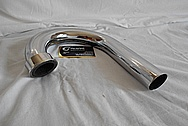 Vintage Steel Motorcycle Tube / Piping AFTER Chrome-Like Metal Polishing - Steel Polishing Services