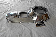 Motorcycle Aluminum Engine Cover Piece AFTER Chrome-Like Metal Polishing - Aluminum Polishing Services