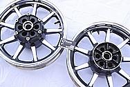 2005 1700cc Yamaha Roadstar Aluminum Wheel AFTER Chrome-Like Metal Polishing and Buffing Services