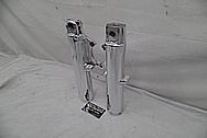 Aluminum Motorcycle Front Fork Tubes AFTER Chrome-Like Metal Polishing - Aluminum Polishing Services