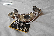 Aluminum Motorcycle Triple Tree AFTER Chrome-Like Metal Polishing - Aluminum Polishing Services