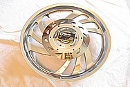 2007 Honda VTX Aluminum Motorcycle Hub Piece AFTER Chrome-Like Metal Polishing and Buffing Services