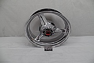 2004 Suzuki GSXR-1000 Aluminum Motorcycle Rear Wheel AFTER Chrome-Like Metal Polishing - Aluminum Polishing Services