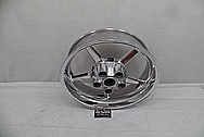 Aluminum Motorcycle Wheels AFTER Chrome-Like Metal Polishing - Aluminum Polishing Services