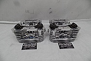 Harley Davidson S&S Aluminum Cylinder Heads AFTER Chrome-Like Metal Polishing - Aluminum Polishing Services