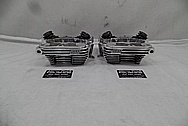 Harley Davidson S&S Aluminum Cylinder Heads AFTER Chrome-Like Metal Polishing - Aluminum Polishing Services