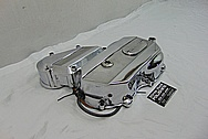 Ducati Motorcycle Aluminum Engine Cover Piece AFTER Chrome-Like Metal Polishing and Buffing Services / Restoration Services - Aluminum Polishing Services