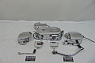 Ducati Motorcycle Aluminum Engine Cover Pieces AFTER Chrome-Like Metal Polishing and Buffing Services / Restoration Services - Aluminum Polishing Services