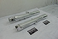 Harley Davidson Motorcycle Aluminum Lower Forks AFTER Chrome-Like Metal Polishing and Buffing Services / Restoration Services - Motorcycle Aluminum Polishing