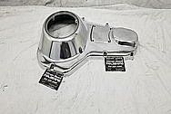 1995 Harley Davidson Aluminum Primary Cover AFTER Chrome-Like Metal Polishing and Buffing Services / Restoration Services - Motorcycle Aluminum Polishing