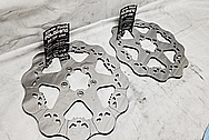 Harley Davidson Steel Motorcycle Brake Rotors AFTER Chrome-Like Metal Polishing - Aluminum Polishing Services
