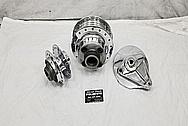 1970's Aluminum Motorcycle Hubs and Brake Parts AFTER Chrome-Like Metal Polishing - Aluminum Polishing Services