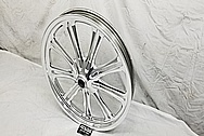 Motorcycle Aluminum Wheel AFTER Chrome-Like Metal Polishing and Buffing Services / Restoration Services - Aluminum Polishing - Wheel Polishing