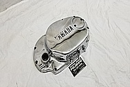 1978 Yamaha XS650 Motorcycle Aluminum Engine Cover AFTER Chrome-Like Metal Polishing and Buffing Services / Restoration Services - Aluminum Polishing - Motorcycle Polishing