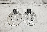 Harley Davidson Motorcycle Stainless Steel Brake Rotors AFTER Chrome-Like Metal Polishing and Buffing Services / Restoration Services - Stainless Steel Polishing - Motorcycle Polishing