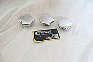 Vincent Black Shadow Aluminum Motorcycle Caps AFTER Chrome-Like Metal Polishing and Buffing Services