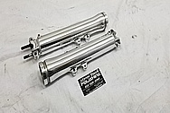 Aluminum Front Motorcycle Lower Forks AFTER Chrome-Like Metal Polishing and Buffing Services / Restoration Services - Aluminum Polishing
