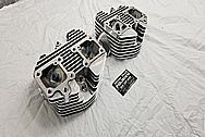 Motorcycle Aluminum Cylinder Heads AFTER Chrome-Like Metal Polishing and Buffing Services / Restoration Services - Aluminum Polishing