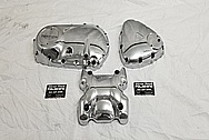 Triumph Bobber Motorcycle Aluminum Engine Covers AFTER Chrome-Like Metal Polishing and Buffing Services / Restoration Services - Aluminum Polishing
