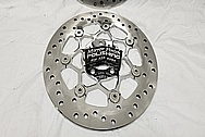 Motorcycle Steel Brake Rotors AFTER Chrome-Like Metal Polishing and Buffing Services / Restoration Services - Steel Polishing