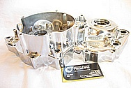 Honda CR500R Motorcross Motorcycle Dirt Bike Aluminum Engine Case AFTER Chrome-Like Metal Polishing and Buffing Services