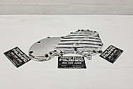 1950 Harley Davidsion Panhead Aluminum Chrome Plated Cover Original Alcoa Casting from 1940's AFTER Chrome-Like Metal Polishing and Buffing Services - Aluminum Polishing Services