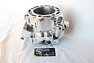 Honda CR500R Motorcross Motorcycle Dirt Bike Aluminum Engine Cylinder AFTER Chrome-Like Metal Polishing and Buffing Services