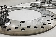 Aluminum and Steel Motorcycle Brake Rotors AFTER Chrome-Like Metal Polishing and Buffing Services / Restoration Services